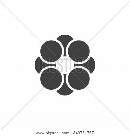 Sulfur Molecule Structure Vector Icon. Filled Flat Sign For Mobile Concept And Web Design. Sulfur Fo