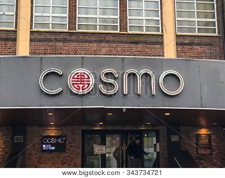 Derby, Uk- Jan 6, 2020: Cosmo Buffet Restaurant Located In Derby