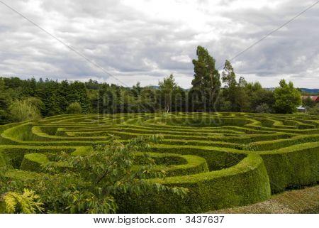 Celtic Maze In Wicklow, Ireland.