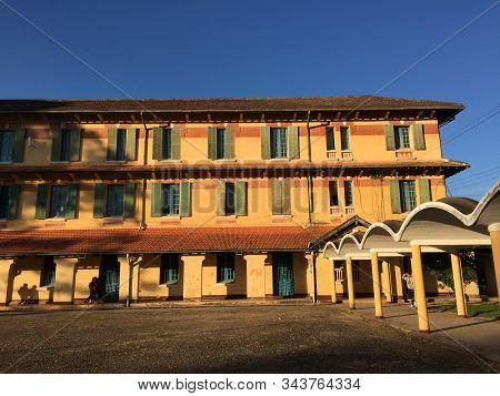 Dalat, Vietnam - Nov 25, 2017. View Of Grand Lycee Yersin School In Dalat, Vietnam. The School Was F