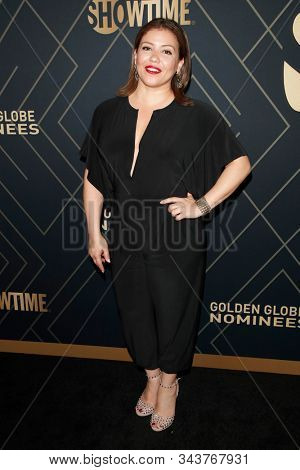 LOS ANGELES - JAN 4:  Justina Machado at the Showtime Golden Globe Nominees Celebration at the Sunset Tower Hotel on January 4, 2020 in West Hollywood, CA