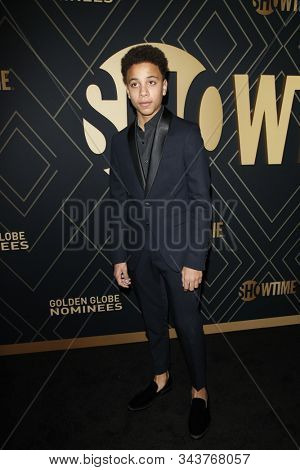 LOS ANGELES - JAN 4:  Joshua Caleb Johnson at the Showtime Golden Globe Nominees Celebration at the Sunset Tower Hotel on January 4, 2020 in West Hollywood, CA
