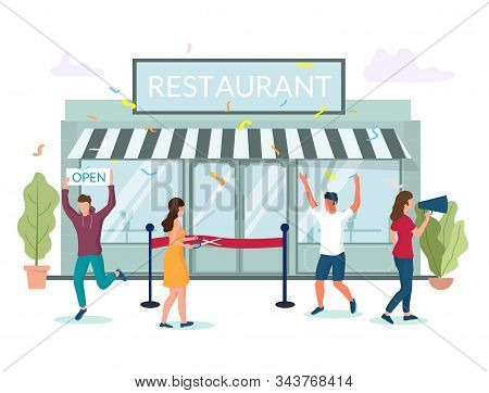 Restaurant Grand Opening Vector Concept For Web Banner, Website Page
