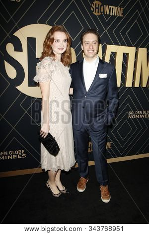 LOS ANGELES - JAN 4:  Jennifer Stahl, Gabe Sherman at the Showtime Golden Globe Nominees Celebration at the Sunset Tower Hotel on January 4, 2020 in West Hollywood, CA