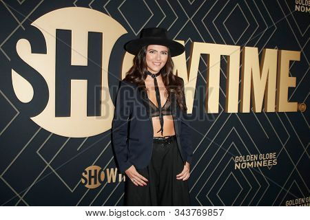 LOS ANGELES - JAN 4:  Arienne Mandi at the Showtime Golden Globe Nominees Celebration at the Sunset Tower Hotel on January 4, 2020 in West Hollywood, CA