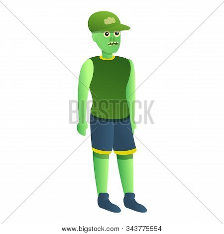 Zombie Baseball Cap Icon. Cartoon Of Zombie Baseball Cap Vector Icon For Web Design Isolated On Whit