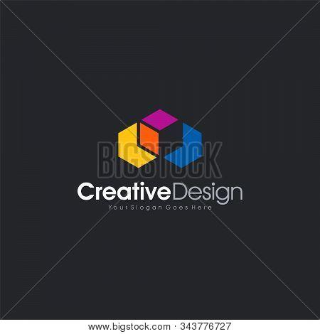 Icon Design Book Cube Abstract Logo Template Design Vector, Emblem, Design Concept, Creative Symbol