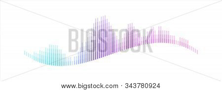Technology Sound Wave Visualization. Abstract Audio Player Equalizer. Music And Voice Digital Signal