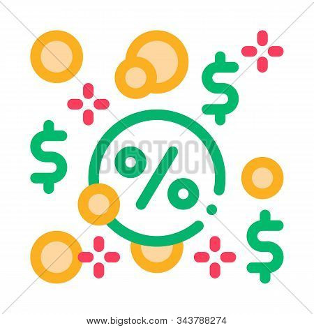Interest-free Loans Icon Vector. Outline Interest-free Loans Sign. Isolated Contour Symbol Illustrat