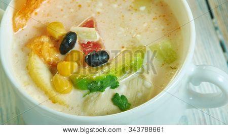 Creamy Southwest Corn Chowder. Southwest Style Soup, Southwest  Cuisine, Traditional Assorted Americ