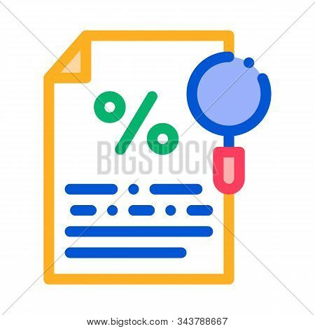 Study Of Interest Related Documentation Icon Vector. Outline Study Of Interest Related Documentation