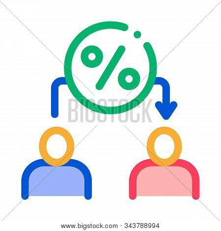 Lend Money Human Icon Vector. Outline Lend Money Human Sign. Isolated Contour Symbol Illustration