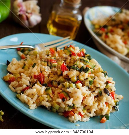 Risotto With Vegetables Top View