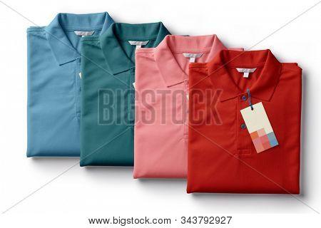 colorful en polo t-shirt template