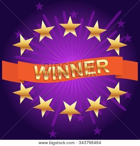 Lottery Winner. Winner Banner, Big Win. Jackpot, Super Prize, Winning Poster. Vector Illustration.