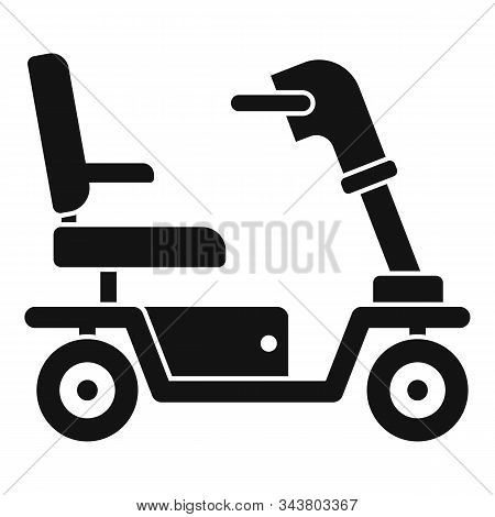 Motorized Wheelchair Icon. Simple Illustration Of Motorized Wheelchair Vector Icon For Web Design Is