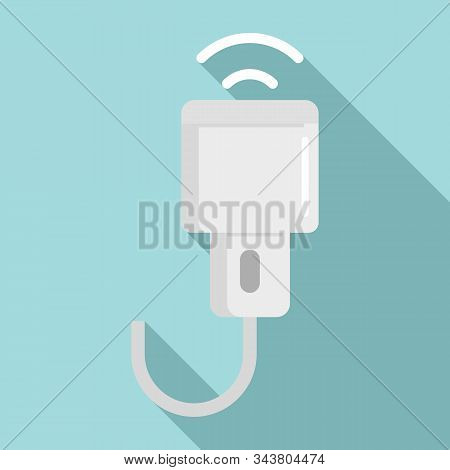 Ultrasonic Scanner Icon. Flat Illustration Of Ultrasonic Scanner Vector Icon For Web Design