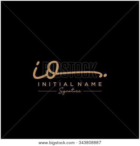 Letter Initial Io Signature Logo Template Vector