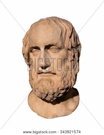 Famous Ancient Greek Tragedian Euripides (480-406) Bc.