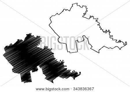Stefan Voda District (republic Of Moldova, Administrative Divisions Of Moldova) Map Vector Illustrat