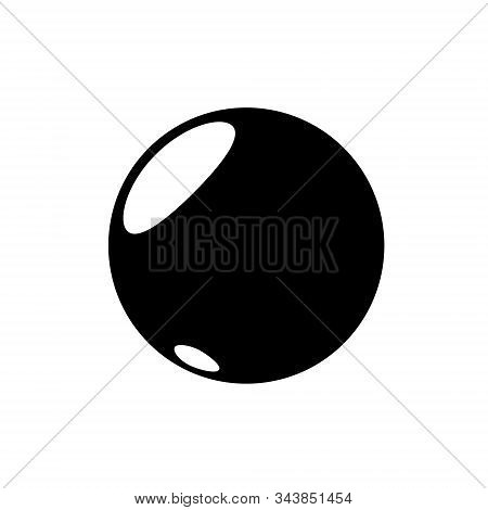 Punctuation Mark Period, Point Black Color Icon Isolated On White Background. Circle Shaped. Vector