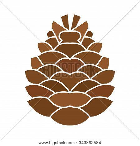 Isolated Pine Cone Icon. Thanksgiving Season - Vector Illustration Design