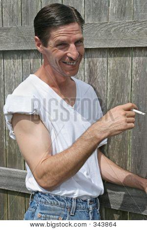 Smoking Man - Smiling