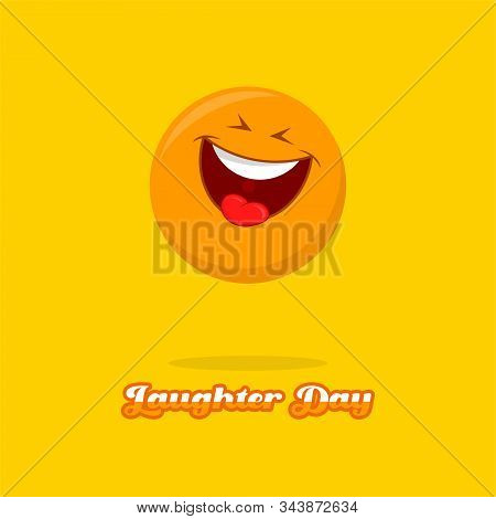 World Laughter Day On 03 May Vector Design With Laugh Icon