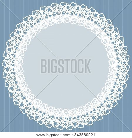 Cute Decorative Vintage Fabric Openwork Lace Doily Design. Doyley - Result Of Needlework-crochet As