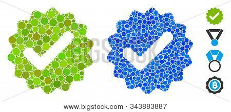 Best Medallion Composition Of Filled Circles In Various Sizes And Color Tones, Based On Best Medalli