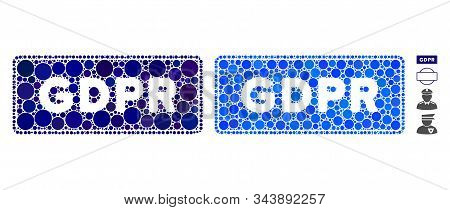 Gdpr Rectangle Composition Of Small Circles In Different Sizes And Color Tinges, Based On Gdpr Recta