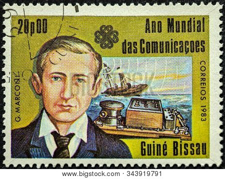 Guinea - Bissau - Circa 1983: A Stamp Printed In Guinea-bissau Dedicated To The World Communications