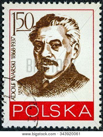 Poland - Circa 1978: A Post Stamp Printed In Poland With Portrait Of Adolf Warski, Jewish Leader And