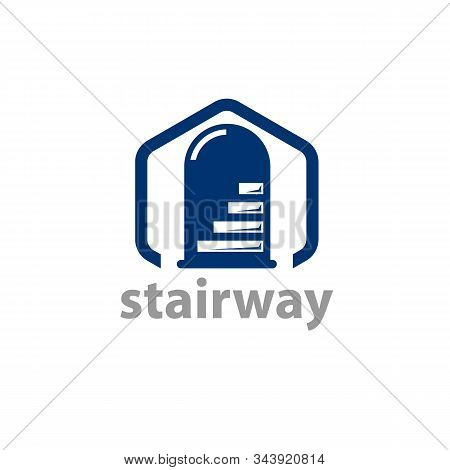 Stairway Glyph Icon Vector On White Background. Flat Vector Stairway Icon Symbol Sign From Modern Ho