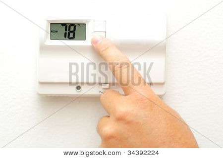 Hand And Thermostat