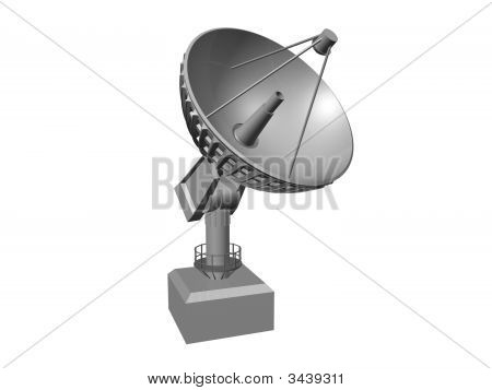 Satellite Dish On White Background 1