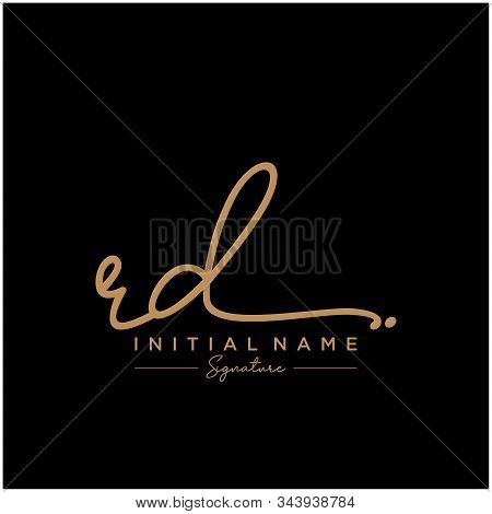 Letter Initial Rd Signature Logo Template Vector