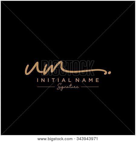 Letter Initial Um Signature Logo Template Vector
