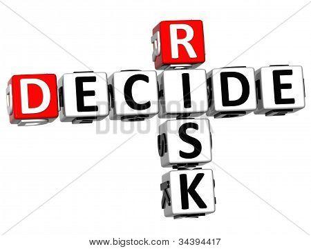 3D Risk Decide Crossword