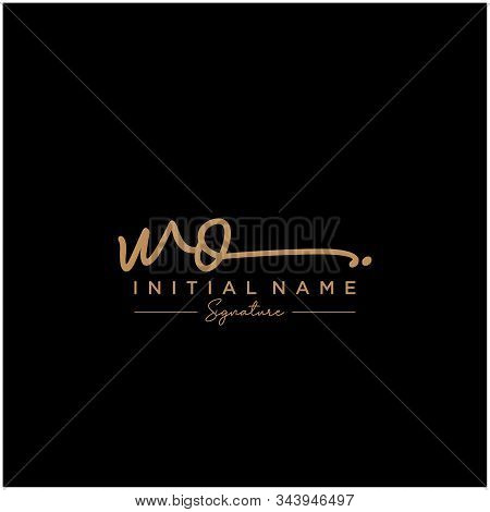 Letter Initial Wo Signature Logo Template Vector