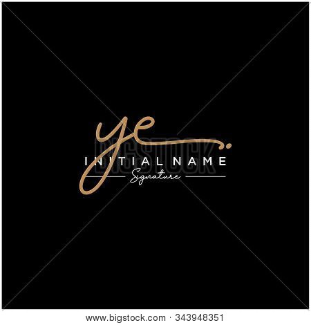 Letter Initial Ye Signature Logo Template Vector