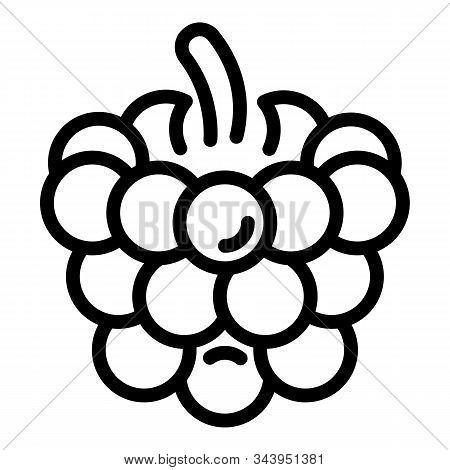 Fresh Blackberry Icon. Outline Fresh Blackberry Vector Icon For Web Design Isolated On White Backgro