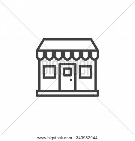 Bakery Shop Line Icon. Linear Style Sign For Mobile Concept And Web Design. Store Front Outline Vect