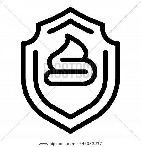 Sunblock Cream Icon. Outline Sunblock Cream Vector Icon For Web Design Isolated On White Background