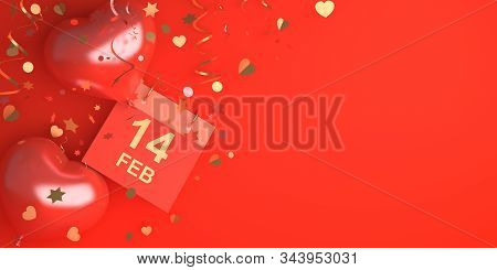 Happy Valentines Day, Valentines Day Background, Calendar February 14 Date, Heart Shape Balloon, Gol