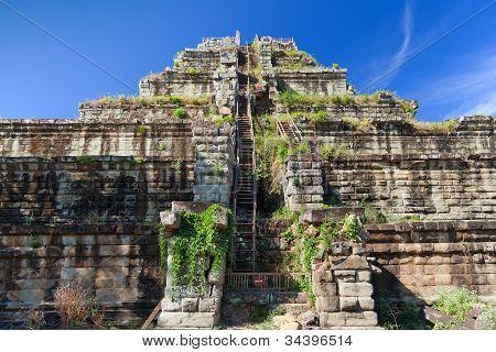 Ancient Khmer Pyramid In Koh Ker