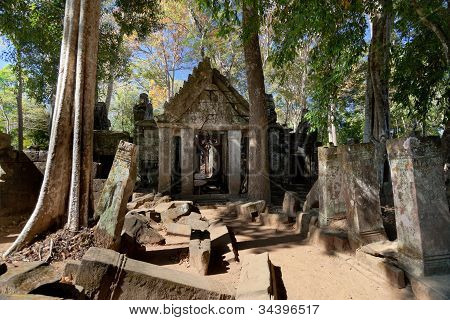 Ancient Emple Ruins In Koh Ker