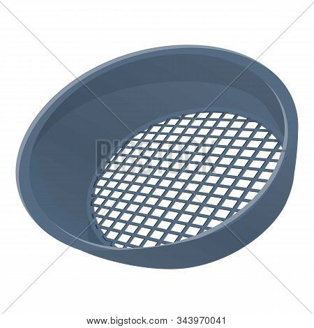 Metal Sieve Icon. Cartoon Of Metal Sieve Vector Icon For Web Design Isolated On White Background