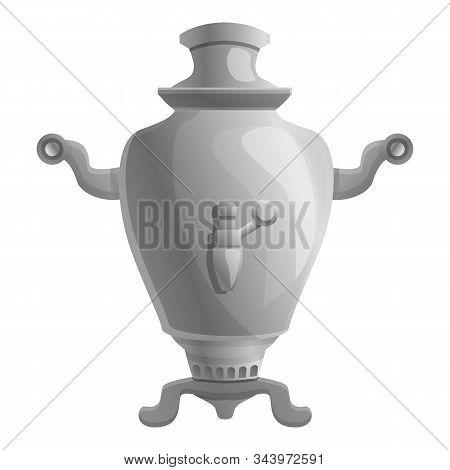 Aluminum Samovar Icon. Cartoon Of Aluminum Samovar Vector Icon For Web Design Isolated On White Back