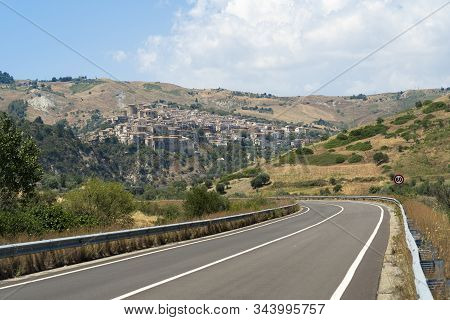 Oriolo, Cosenza, Calabria, Italy, In The Valley Of The Ferro River, At Summer